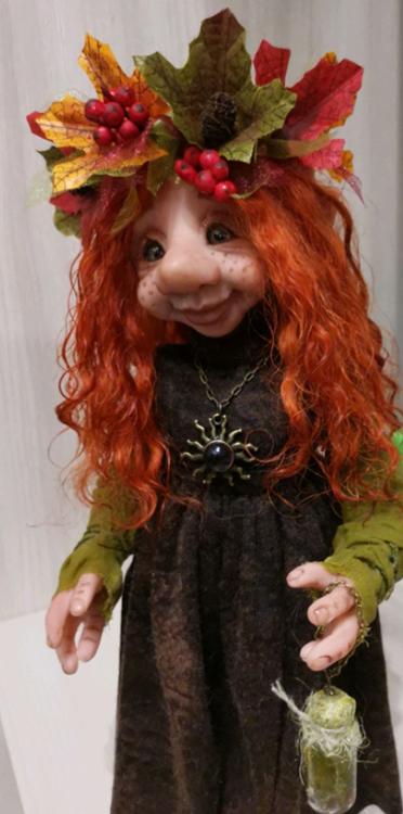 кукла ручной работы на заказ золотая осень